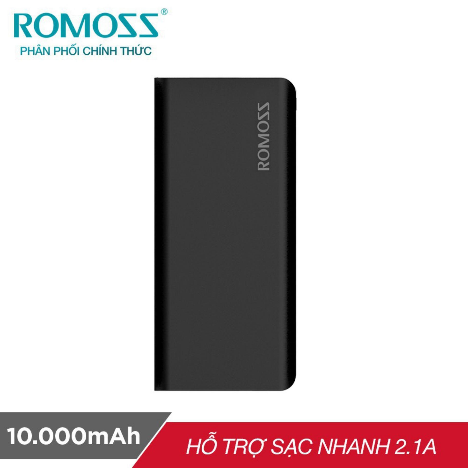 Pin sạc dự phòng 10000mah Romoss GL Solit 5 - Hãng Phân phối chính thức (Màu Đen)