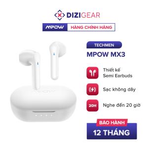 [Quà Tặng Túi Dizigear] Tai Nghe True Wireless MPOW MX3, Hỗ Trợ Sạc Không Dây, Bluetooth 5.0, Điều Khiển Cảm Ứng, Kháng Nước IPX4, Nghe Đến 20H - Chính Hãng BH 12 Tháng Dizigear thumbnail