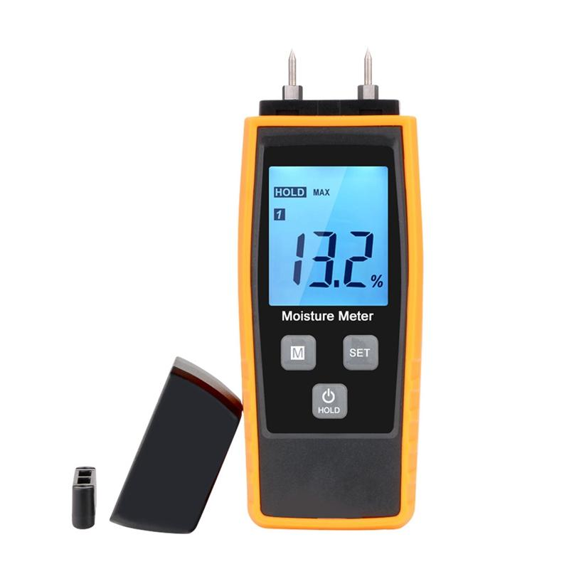 Professional Wood Moisture Humidity Meter Digital Tester 0%~80% - Rz660