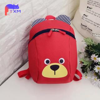 Cartoon Kids Backpack Boys Girls Schoolbag - Durable Nylon Cute Bear Kindergarten Anti-lost Bag, Small Bag thumbnail