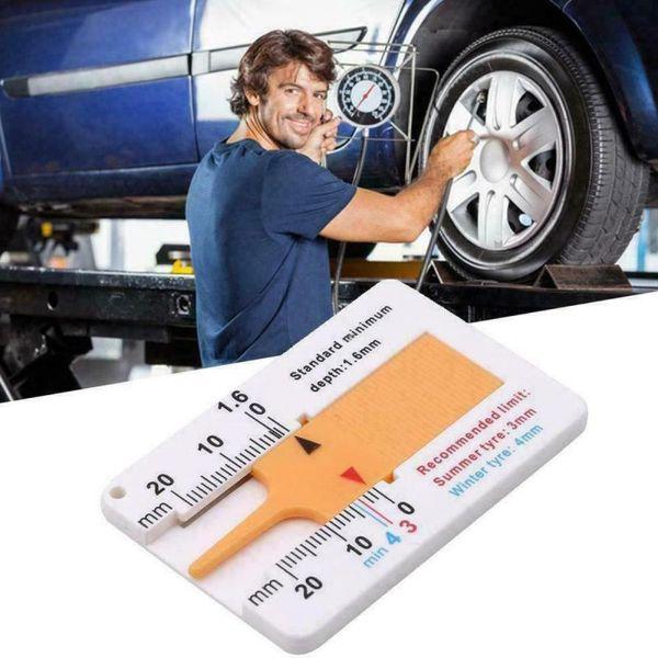 ZHIWOYO Cầm tay với Keychain Công cụ đánh dấu Phụ kiện xe hơi Công cụ đo bánh xe Cung cấp đo lường Đo độsâu Chỉ báo độ sâu Thước đo độ sâu mẫu lốp Độ sâu lốp xe ô tô