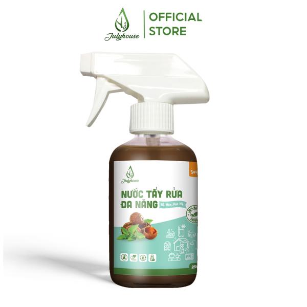 Nước xịt tẩy rửa đa năng chiết xuất từ trái Bồ Hòn và tinh dầu Bạc Hà Nguyên Chất 250ml JULYHOUSE