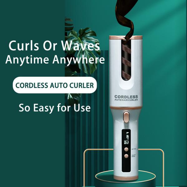 Máy uốn tóc tự động xoay 360 độ máy làm tóc xoăn sóng mini cầm tay 3 in 1 không dây thông minh giá rẻ