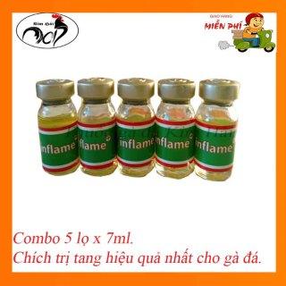 Tang imjlame-combo 5 lọ x7ml-siêu t.r.ị tang số 1 dành cho gà cựa. thumbnail