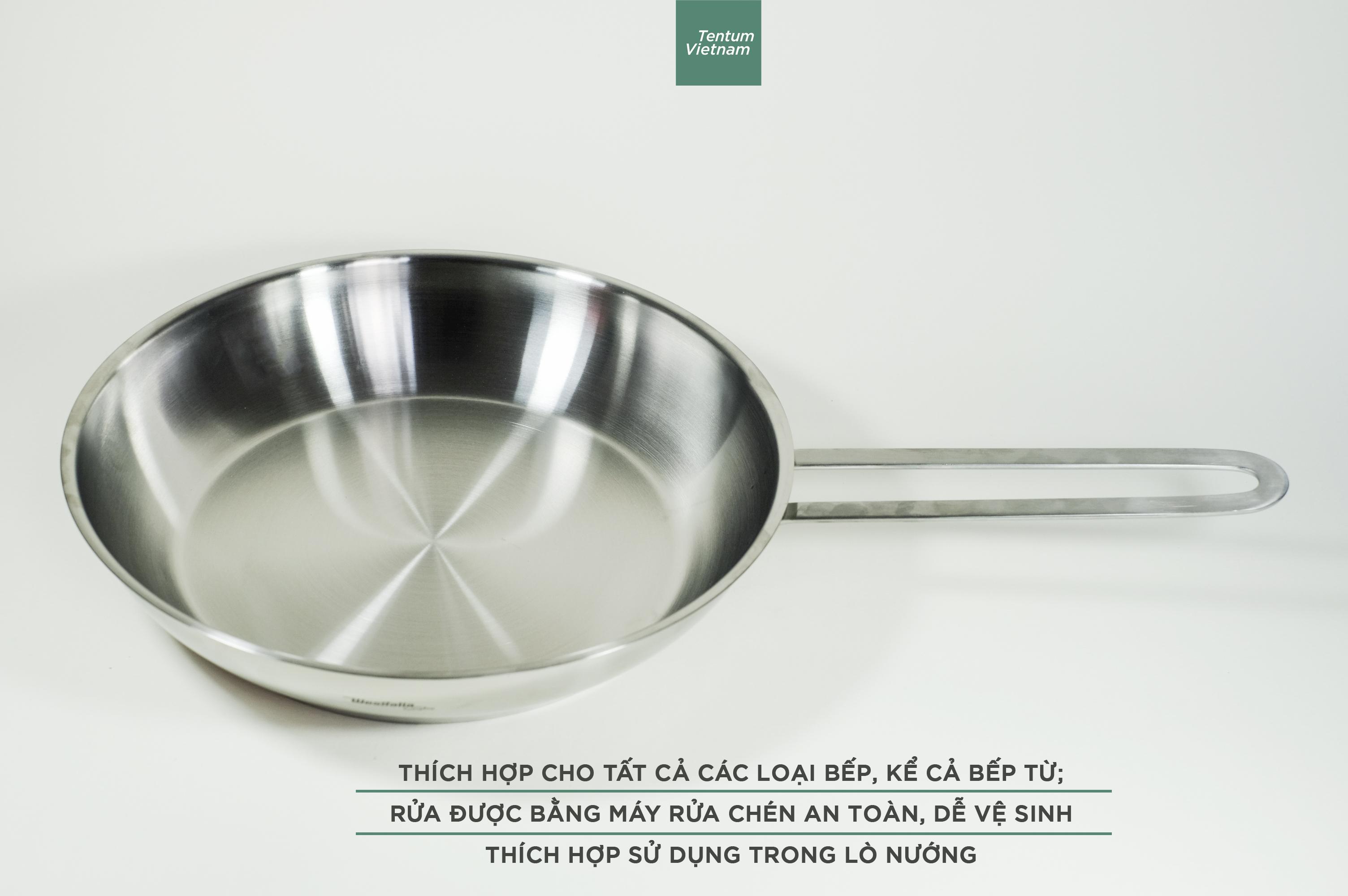 Deal Khuyến Mại Chảo Inox Cao Cấp Thương Hiệu Từ Đức Westfalia; 24cm - TẶNG KÈM Bộ Hộp Cơm Tchibo Trị Giá 120k (số Lượng Có Hạn)