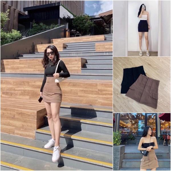 Chân váy cạp cao túi sườn (chân váy túi nắp vuông bên hông), cam kết sản phẩm đúng mô tả, chất lượng đảm bảo an toàn đến sức khỏe người sử dụng
