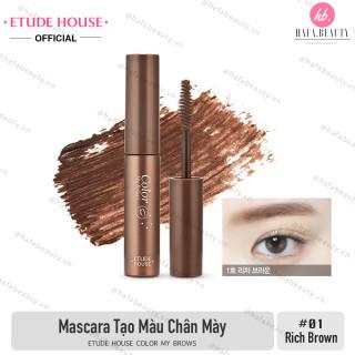 Mascara Định Hình và Tạo Màu Chân Mày Etude House Color My Brows 9g 01 Rich Brown thumbnail