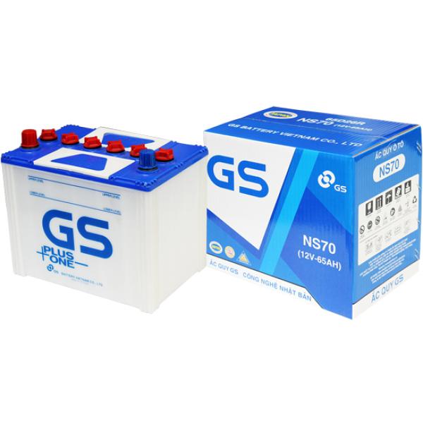 Ắc quy GS Nước NS70 (12V-65Ah)