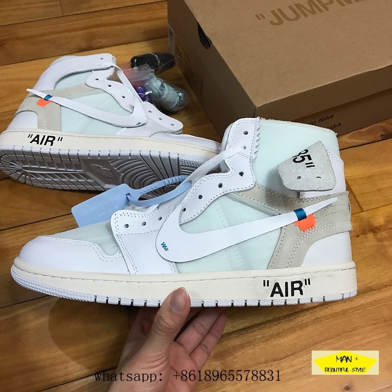 (CÓ QUÀ TẶNG) Giày thể thao nam nữ sneaker AIR JORDAN 1 off white trắng