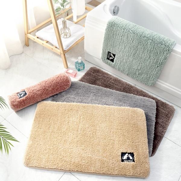 Thảm chùi chân nhà tắm chống trơn trượt, thảm lau chân lông cừu thấm hút tốt