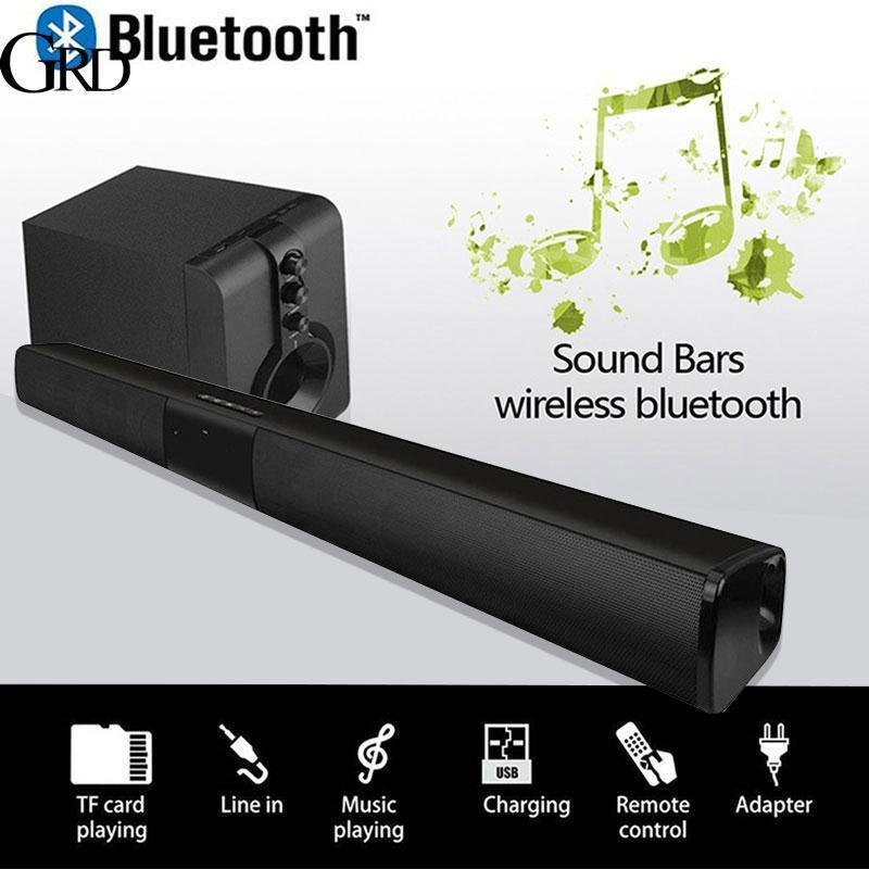 GRAND 5W*2 Soundbar FM Home Theater AUX Smart Phone Portable 330mm Universal Voice Call Wireless Bluetooth Speaker