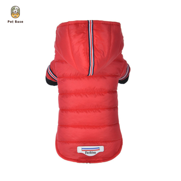 Autumn Winter Pet Clothes Dog Down Cotton Coat With Hat Warm Puppy Jacket Small Dogs Hoodies Pet Supplies XS-XL