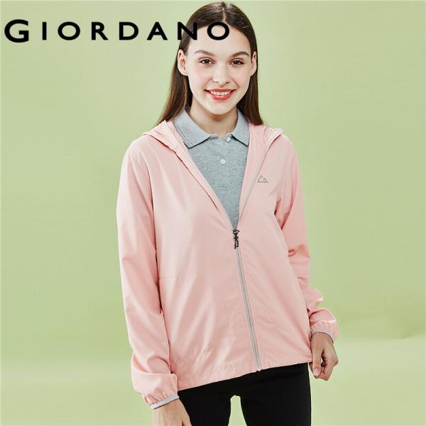 Áo khoác nữ chống tia UV tia cực tím chất liệu cao cấp thoáng khí thấm hút mồ hôi chống thấm nước Giordano Free Shipping 05370090