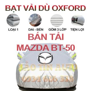 [LOẠI 1] Bạt che kín bảo vệ xe bán tải Mazda BT-50 4,5 chỗ tráng bạc cao cấp, vải bông chống xước 3 lớp vải dù Oxford , bạt phủ trùm che nắng, mưa, bụi bẩn, áo chùm bạc trùm phủ xe oto ban tai Bảo Tín Auto thumbnail