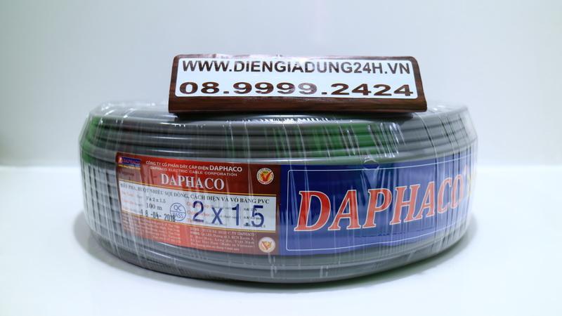 CÁP XÁM DAPHACO 2 x 1.5