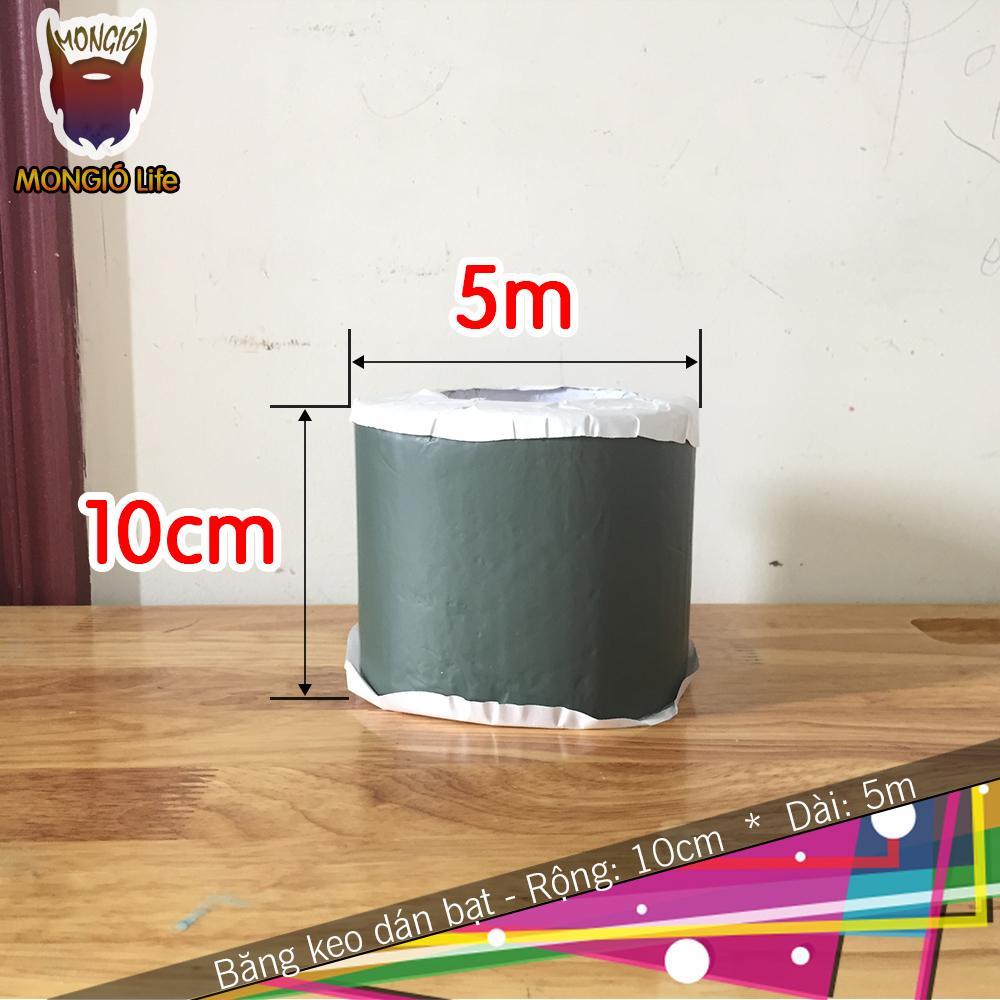 10cm x 5m - Băng keo dán bạt HDPE chống thấm nước, dán mái - 10cm x 5m (Màu XANH LỤC)