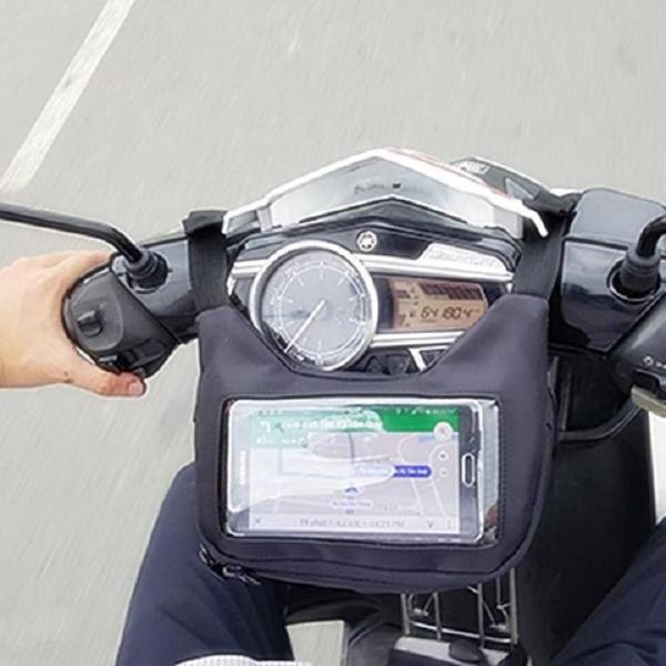 Túi grab màn hình cảm ứng treo điện thoại và vật dụng đầu xe máy đa năng- Túi dùng để chạy Grab, Goviet và xe ôm công nghệ - đảm bảo an toàn cho điện thoại - túi grap