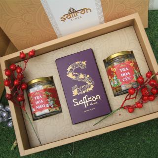 Set Saffron Shyam - Đông trùng hạ thảo - Trà hoa - Mật ong Saffron thumbnail