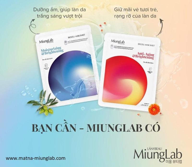 phiên bản mới- MIX 2 MÀU COMBO 7 MIẾNG MẶT NẠ MIUNG LAB:4 MÀU ĐỎ TINH CHẤT LỰU VÀ 3 MÀU XANH TINH CHÂT BƠ (HOẶC 4 XANH+ 3 ĐỎ ) giá rẻ