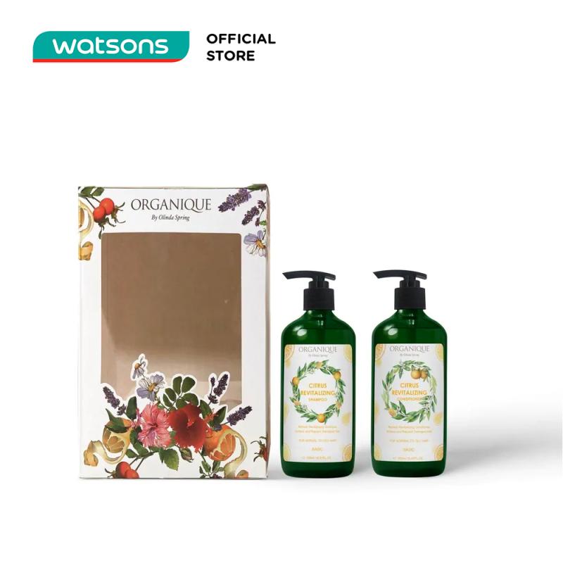 Bộ Quà tặng Organique Rose Gift Box For Hair Hương Cam Chanh Cho Tóc (Dầu Gội 500ml + Dầu Xả 500ml)