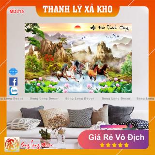 Tranh Dán Tường 3D Mã Đáo Thành Công - MD315- Tranh 3D Phong Thủy - Giấy dán tường 3d - Song Long Decor thumbnail