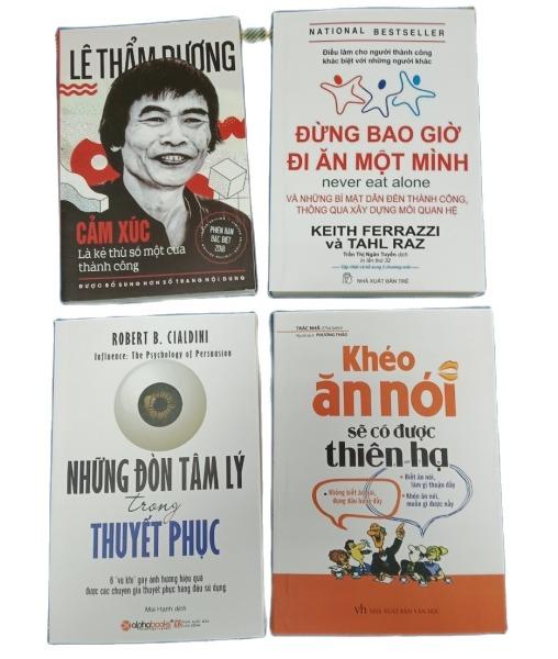 Com bo 4 cuốn kỹ năng Khéo ăn nói+ Những đòn tâm lý + Cảm xúc là kẻ thù số 1 thành công + Đừng bao giờ đi ăn 1 mình