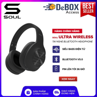Tai Nghe Bluetooth Headphone Soul Ultra Wireless Dynamic Bass - Chính Hãng BH 12 Tháng thumbnail