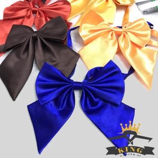 Nơ đeo cổ nữ công sở KING học sinh nhật bản, nơ áo nữ thời trang màu đen X03 thumbnail