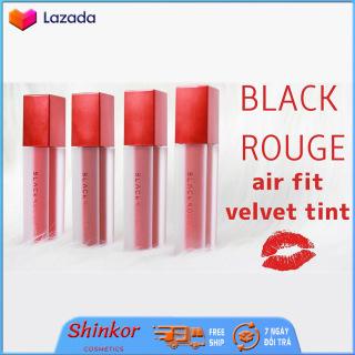 Son Black Rouge Siêu Mịn Air Fit Velvet Tint Version 1 Son Kem Lì Siêu Mi n Không Gây Hiê n Tươ ng Khô Môi SHINKOR thumbnail