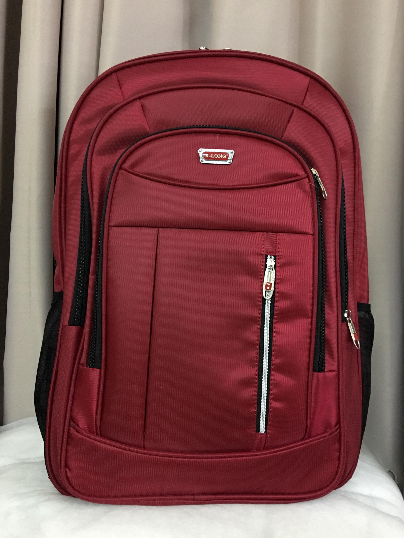 57x40cm Balo SIÊU LỚN Laptop Du Lịch Đi Làm Đi Công Tác Lilan Sọc Chỉ Đỏ - L14 Giá Siêu Rẻ