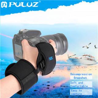 PULUZ Soft Neoprene Hand Grip Wrist Strap with 1/4 inch Screw Plastic Plate for SLR / DSLR Cameras