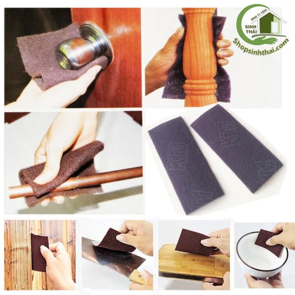 [HCM]Miếng cước lau chùi đa năng màu tím đánh bóng nồi niêu lau chùi đồ gỗ kim loại - miếng 9cm x 205cm