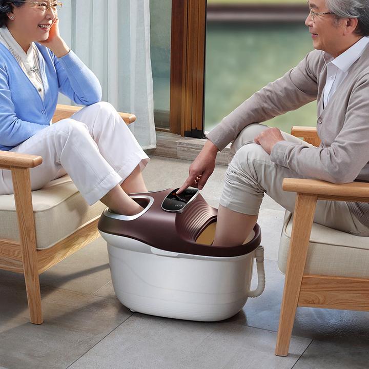 Bồn ngâm chân massage chân trị liệu dùng được cho 2 người có bánh xe di chuyển nhập khẩu