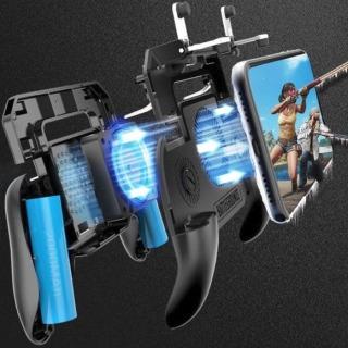 Tay Cầm Chơi Game PUBG, Liên Quân Mobile Cao Cấp Có Quạt Tản Nhiệt, kim sạc dự phòng Thiết bị phù hợp Smartphone 4.5 inch - 6.5 inch thumbnail