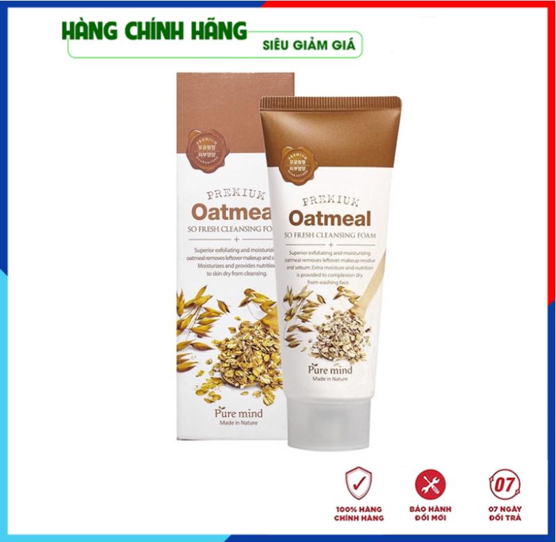 [Rẻ Vô Địch- Hàng Nhập Khẩu Hàn Quốc] Sữa rửa mặt trắng da và làm sạch chiết xuất lúa mạch Pure Mind Hàn Quốc 100ml giá rẻ