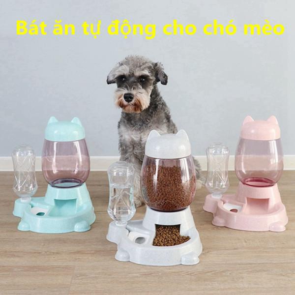 Bát ăn tự động cho chó, mèo và thú cưng Bình nước 2,2 lít, đồ dùng cho thú cưng, cho ăn tự động tiện lợi và hộp đựng thức ăn chậm