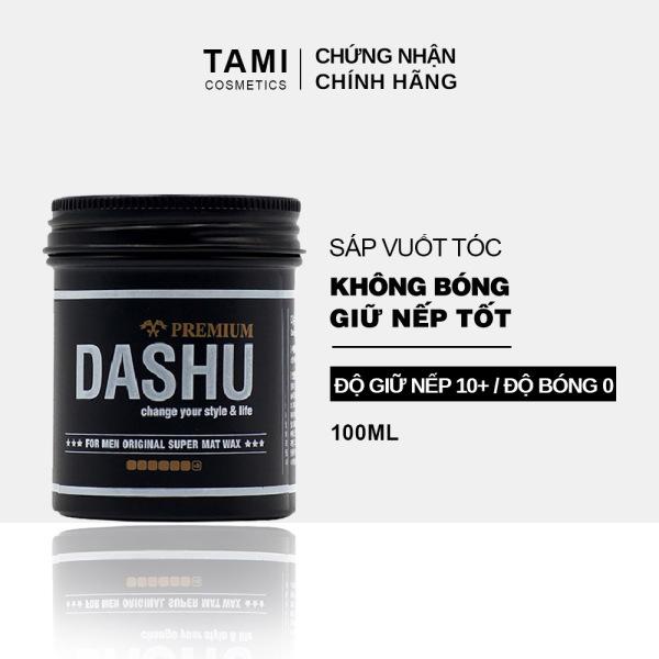 Sáp vuốt tóc nam DASHU For Men Premium Original Super Mat Tạo kiểu linh hoạt Giữ nếp tốt Hiệu ứng mờ không bóng 100ml TM-SA02