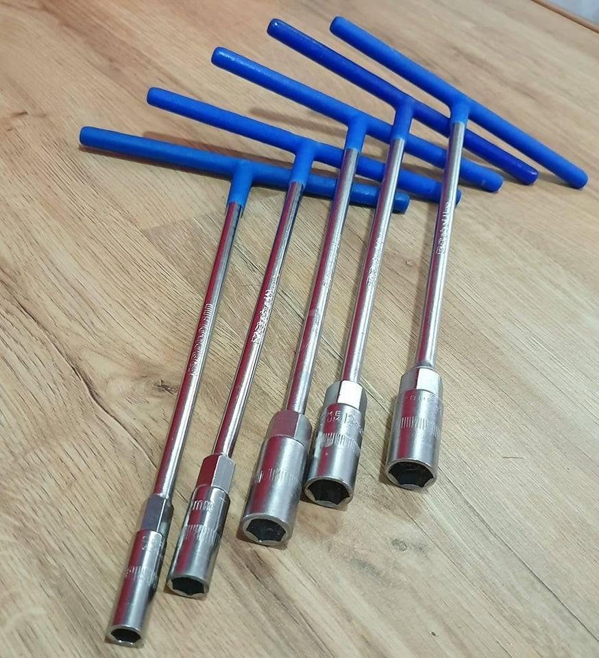 Bộ 5 Cần Siết Chữ T Cán Bọc Nhựa 5 Kích Cỡ 8mm,10mm,12mm,13mm,14mm