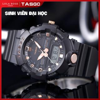 Đồng hồ nữ chống nước, đồng hồ thể thao TASGO thiết kế tinh tế, kết hợp kim và điện tử, mặt kính sapphire cao cấp chống trày, dây đeo thân thiện với da, phù hợp học sinh sinh viên, bảo hành 1 năm T103 thumbnail