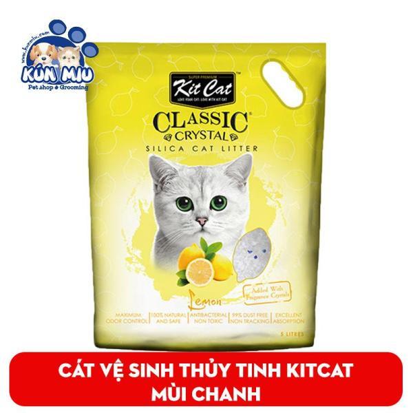 Cát vệ sinh thủy tinh cho mèo KitCat Màu Vàng Hương chanh