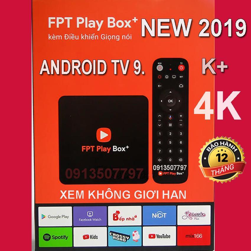 Mã Khuyến Mại FPT Play Box 2019 Android TV 9 + 4K  Model S400 Phiên Bản Android TV 9 Có Khiển Tìm Kiếm Giọng Nói