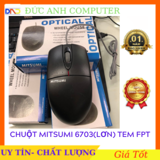 Chuột quang MITSUMI 6703 LỚN FPT - Chính hãng- Bảo Hành 12 Tháng thumbnail