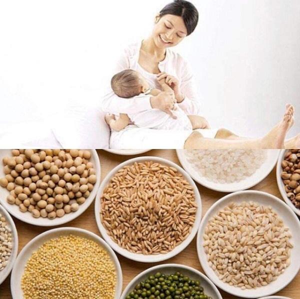 Ngũ cốc lợi sữa cho mẹ sau sinh nhập khẩu