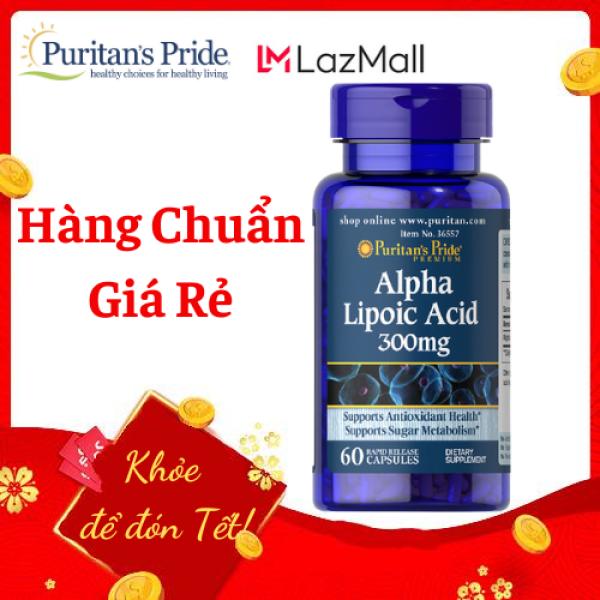 Alpha lipoic acid 300mg 60 viên của Puritans Pride, HSD 6/2021, giúp đẹp da, trị mụn, giảm cân, có lợi cho người tiểu đường, bị béo phì