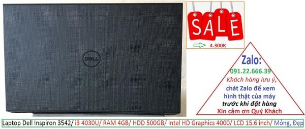 Bảng giá Laptop Dell Inspiron 3542/ i3 4030U/ RAM 4GB/ HDD 500GB/ Intel HD Graphics 4000/ LCD 15.6 inch/ Mỏng, Đẹp Phong Vũ