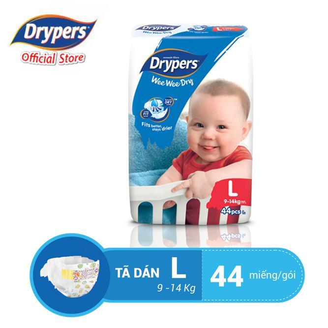 Offer tại Lazada cho Tã Dán Drypers Wee Wee Dry L 44P