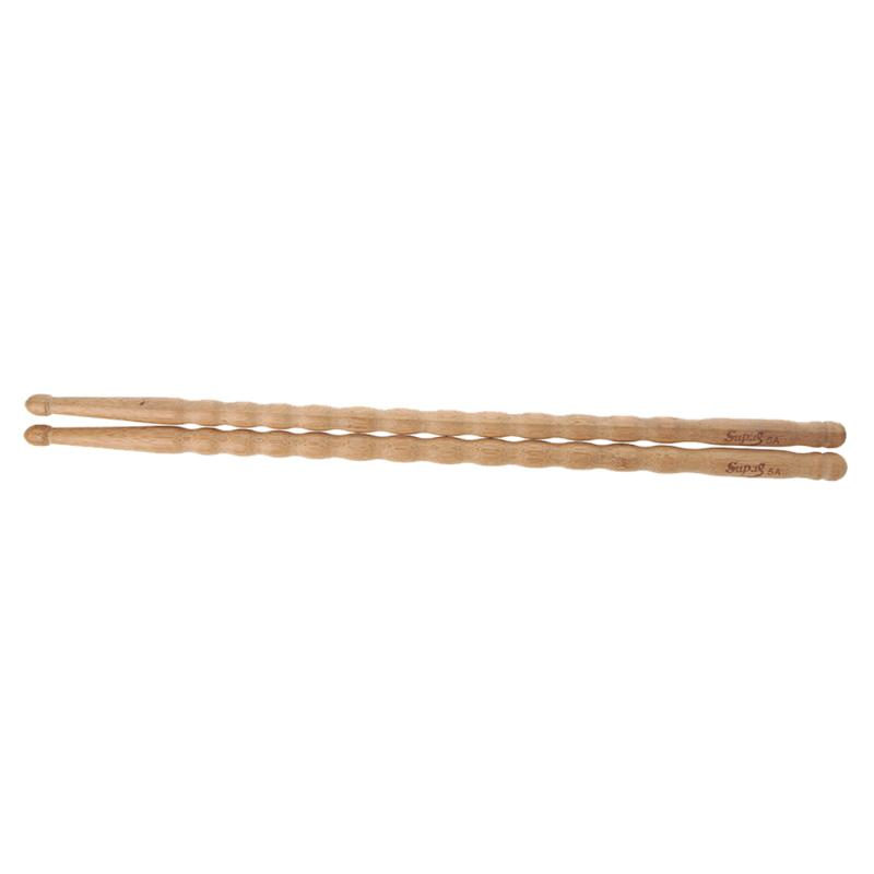 1 Pairs Wavy Pattern Bamboo Drumsticks 5A Drum Stick Durable Practical