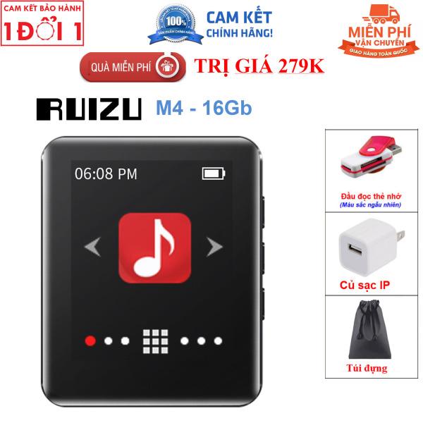 Quà Tặng Trị Giá 199K - Máy Nghe Nhạc MP3 Ruizu M4 Bộ Nhớ Trong 16Gb - Màn Hình Cảm Ứng 1.8 Inch - Kết Nối Bluetooth 4.0