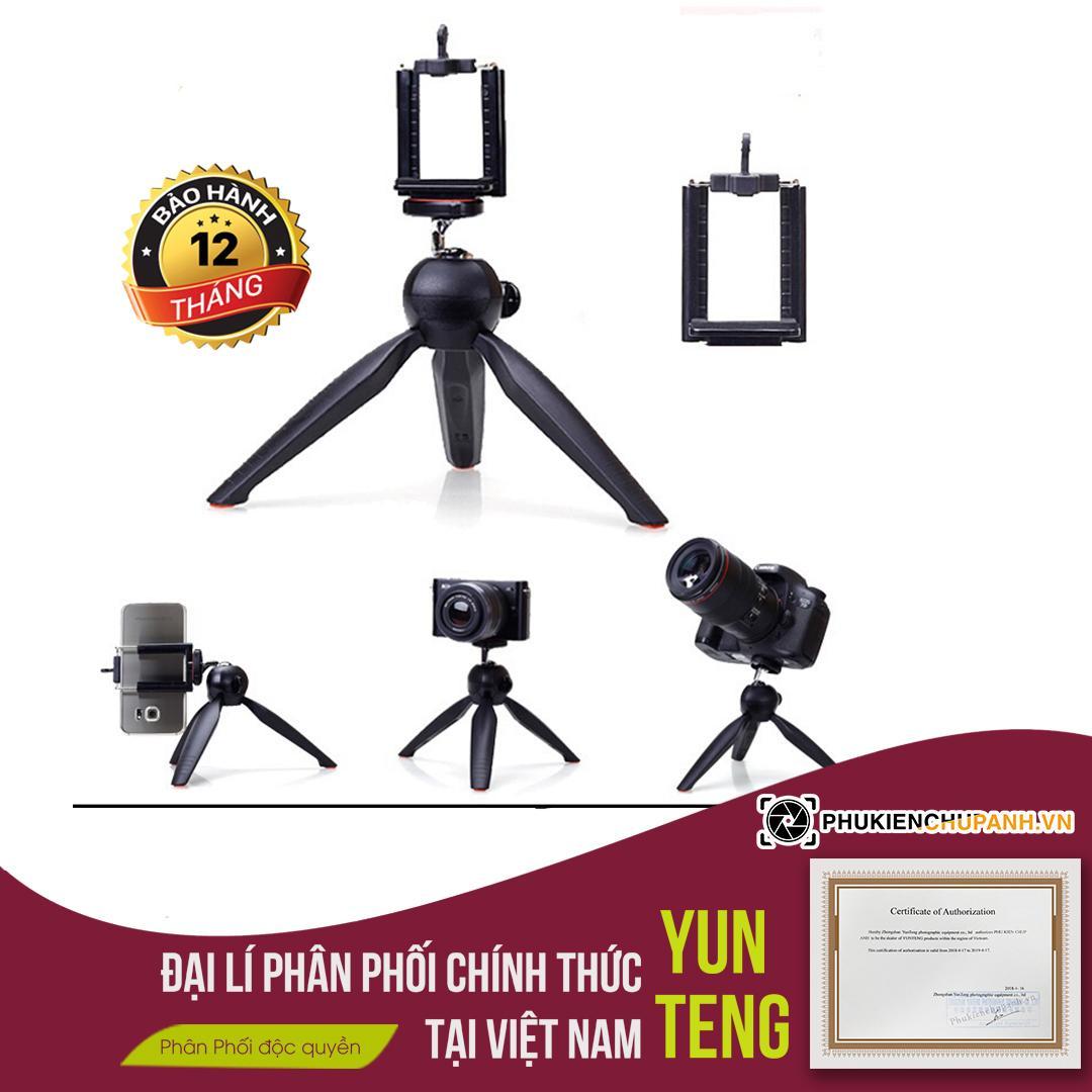 Yunteng Tripod 228  Chân đế chụp hình cho điện thoại và máy ảnh