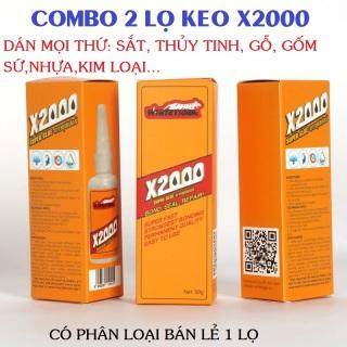 [có video hướng dẫn]Keo dán X2000-Keo dán đa năng siêu dính X2000 dán được mọi vật liệu Keo dán gỗ, thủy tinh, kim loại, sắt, gốm sứ, nhựa thumbnail